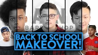BACK TO SCHOOL MAKEOVER (He gets a flat top!) | Fung Bros