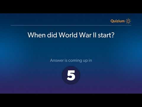 When did World War II start?   World War II Quiz