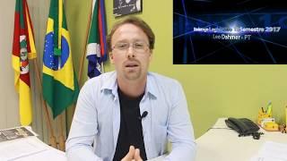 Leo Dahmer faz avaliação do 1º semestre 2017 na Câmara