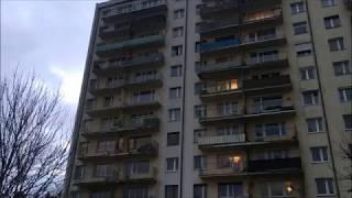 Ziomek z Gorzowa schodzi z 8 piętra po balkonach! Był na dole szybciej niż windą :D
