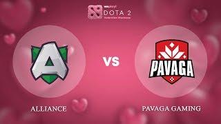 Alliance vs Pavaga Gaming - RU @Map2 | Dota 2 Valentine Madness | WePlay!