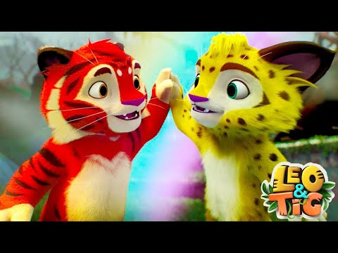 Leo and Tig - All Episodes in a row (4-1) - Funny Family Good Animated Cartoon for Kids