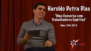 Em visita aos Estados Unidos, em Maio de 2016, Haroldo Dutra Dias conversou com trabalhadores de Casas Espíritas dos...