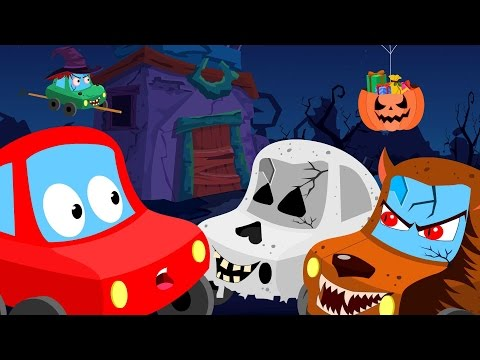 Little Red Car| trick or treat| Halloween videos for children