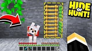 my Minecraft WOLF found this SECRET Minecraft base! - Hide Or Hunt #3