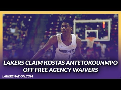 Video: Lakers News Feed: Lakers Claim Kostas Antetokounmpo Off Free Agency Waivers