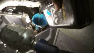 2. Arctic Cat ATV - Oil And Filter Change - How To - by Maineyak