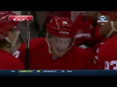 Gustav Nyquist Scores Again from a Ridiculous Angle - 11 Goals-2 Assists in his last 9 Games