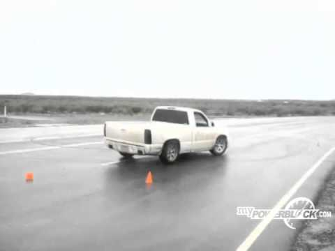 PowerBlock fan shows off his drifting skills in a Chevy 1500
