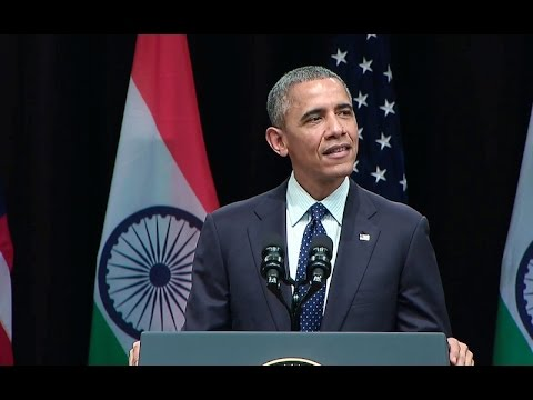 Obama Addresses India