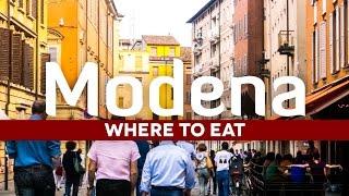 Modena Italy  city images : Italian Food: Where in Eat to Modena Italy
