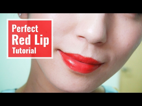 Perfect Red Lip Tutorial。 完美紅唇教學