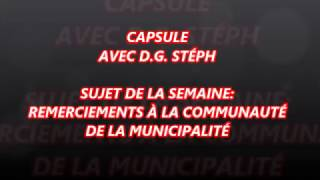 Capsule de DG STEPH - Remerciements à la communauté BSC