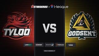 TyLoo vs GODSENT, map 2 overpass, StarSeries i-League Season 5 Finals