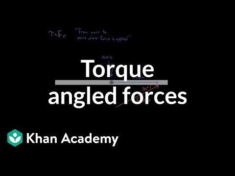 Finding Torque For Angled Forces | Physics | Khan Academy