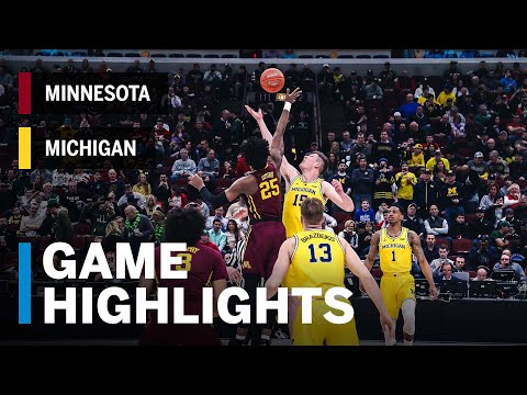 Highlights: Livers' 21 Leads Michigan Into Title Game | Minnesota vs. Michigan | March 16, 2019