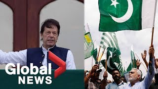 Pakistan PM leads demonstration over Kashmir as thousands hold anti-India rally