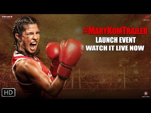 Mary - Punching Live from PVR Andheri, get ready to watch the trailer launch event of Mary Kom. Enjoy the event digitally live with the fiery Priyanka Chopra also at all the Reliance Digital stores...
