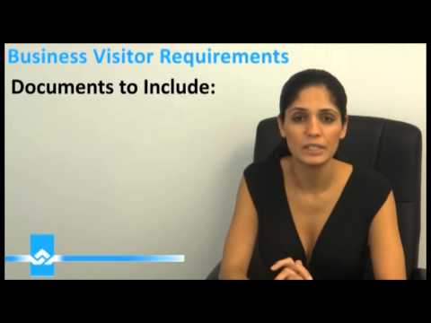 Business Visitor Requirements Video