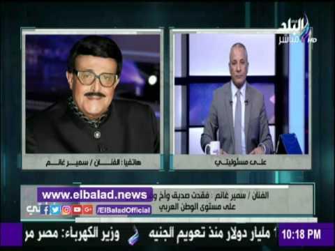 سمير غانم ينهمر بالبكاء على وفاة محمود عبد العزيز