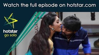 Saravanan Meenatchi! Click here http://www.hotstar.com/tv/saravanan-meenatchi/1678/meenakshis-good-luck-kiss/1000182850 to watch the full episode.Meenatchi's Good Luck Kiss Meenatchi kisses Saravanan and wishes him good luck. Saravanan and Muthazhagu arrive at the competition venue with their families.