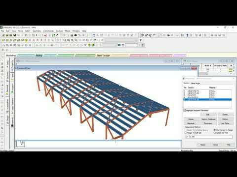 Staad Pro Industrial Warehouse Design ( Steel Design )