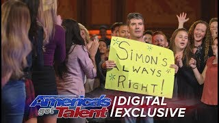 Simon Cowell: Ladies Man and Tangerine Fan - America's Got Talent 2017
