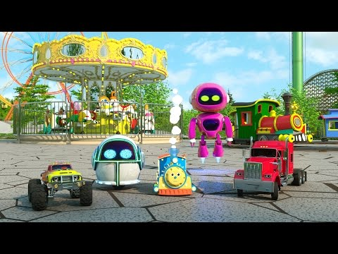 Learn Numbers, Shapes and Colors at the Amusement Park -TOYS (Roller Coasters, Bumper Cars and More)