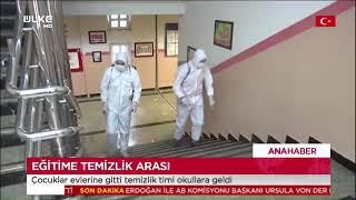 Gaziosmanpaşa'daki Okullarda Dezenfekte Çalışmaları - Ülke Tv