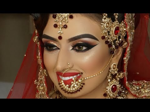 Video Real Bride   Asian Bridal Traditional Makeup   Dramatic Winged Liner   Cat Eyes And Red Lipstick download in MP3, 3GP, MP4, WEBM, AVI, FLV January 2017