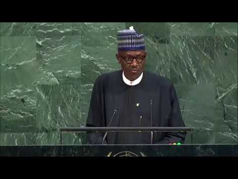 Nigerian President Muhammadu Buhari Talking about Rohingya General Assembly