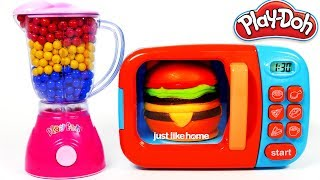 Video Hamburger Squishy Toy and MIcrowave Kitchen Toy Appliance Playset Learn Colors with Play Doh MP3, 3GP, MP4, WEBM, AVI, FLV Oktober 2017