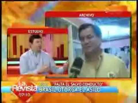 Oscar Ortiz – Brasil otorgo asilo a Senador Roger Pinto – I Unitel