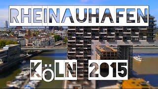 Kranhäuser Köln Rheinauhafen   Cologne harbour crane buildings