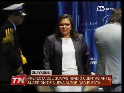 Prefecta del Guayas rindió cuentas ante sucesión de nueva autoridad electa