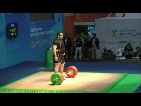 2012 Asian Weightlifting Championships - 105kg+ men's A group Snatch & Clean and Jerk