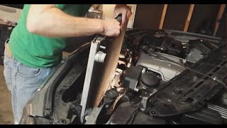 The following instructions will walk you through replacing the Radiator in your BMW e60.I used this BEHR e60 radiator from Amazon: http://amzn.to/1N5CprYI only paid $165! while the Dealership wanted over $1,000!This is not too hard and can easily save you at least $800.This video should cover:BMW 525i / 525xi Sedan (2004-07)BMW 528i xDrive Sedan (2009-10)BMW 528i / 528xi Sedan (2008-10)BMW 530i/530xi Sedan (2004-07)BMW 530xi Wagon (2006-07)BMW 535i xDrive Sedan/Wagon (2009-10)BMW 535i / 535xi Sedan (2008-10)BMW 535xi Wagon (2008)BMW 545i Sedan (2004-05)BMW 550i Sedan (2006-10)BMW M5 Sedan (2006-10)1. Drain the cooling system.2. At the top of the metal radiator support, remove the ten T30 Torx fasteners.3. Lift the radiator support toward the engine bay to remove it, then, flip it over and rest on the top of the engine.5. Working on the top plastic radiator cover, remove the five T25 Torx fasteners.6. Now, pull the coolant reservoir / radiator vent hose out of the plastic mounts. Be careful, as these hoses become brittle over time and can break. These break about 30% of the time. Have one on hand if you are not sure of the condition of yours.7. At the top of the cooling fan, remove the AUC sensor by pushing in the side clips, then lifting up and removing. Place it out of the way, on the left side of the engine compartment. 8. Lift the plastic cover up and off the radiator in the direction of the engine bay.9. Working at the right side of the radiator, remove the hose clamp from the radiator vent hose. You can either pry it open or cut it off. You will have to replace this clamp with a new hose clamp when replacing the radiator, as it is single use. This was the only thing I had to buy besides the radiator and the coolant. Once the clamp is loose, remove the hose from the radiator.10. Working at the upper radiator hose, use a flathead screwdriver to lever out the coolant hose retaining clip. Be sure to pull the retaining clip out until it rests at the stop. Mine came 
