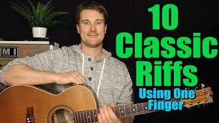 Learn 10 Classic Riffs in 16 minutes! Complete list below: Wolfmother - Woman 0:45 Imagine Dragons - Demons 2:21 Katy Perry ...
