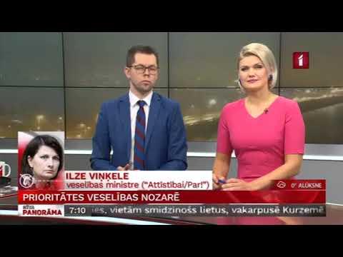 Veselības ministres Ilzes Viņķeles saruna LTV Rīta Panorāma