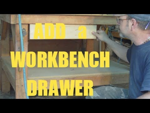 drawers - Easy way to add a drawer to your work bench or anywhere else. Visit my Amazon Tool-Box http://astore.amazon.com/mistscornst07-20.