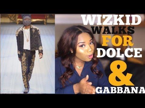 WIZKID WALKS THE RUNWAY FOR DOLCE & GABBANA | YINDAA