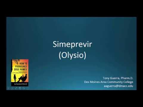 (CC) How to Pronounce Simeprevir (Olysio) Backbuilding Pharmacology