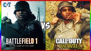 COD WW2 vs BF1 Gameplay & Graphics
