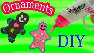 Playdoh DohVinci DIY Gingerbread Man Cookies Christmas Holiday Ornaments Maker Toy Play Doh Vinci
