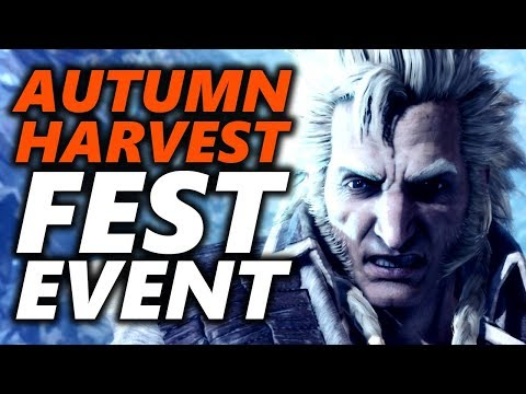AUTUMN HARVEST FEST EVENT ! USJ, Layered Armor, Extremoth, Kulve - Monster Hunter World (видео)