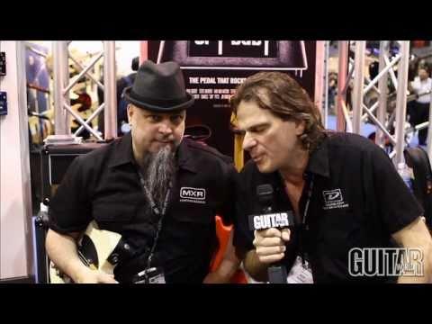Guitar World at Dunlop's NAMM 2011 booth