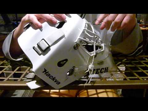 Hackva 2608 Mask Review and Dangler Tie Method Ice Hockey Mask/Helmet