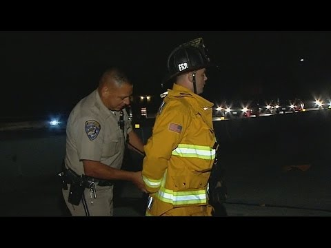 CHP officer handcuffs Chula Vista Firefighter caught on camera by CBS 8