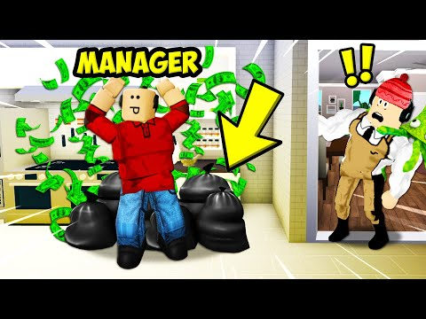 I Worked At A Bloxburg Cafe... The Manager Had An Evil Secret! (Roblox Bloxburg Story)