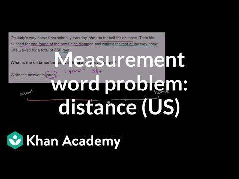 Measurement word problem: distance home (video) | Khan Academy